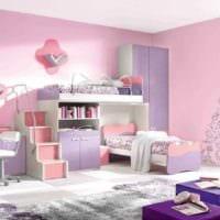 идея необычного интерьера детской комнаты для девочки фото