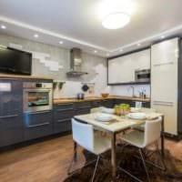 идея красивого дизайна кухни 10 кв.м. серии п 44 фото