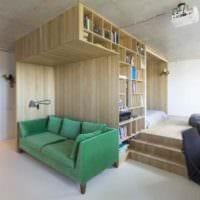 идея яркого стиля гостиной 15 кв.м фото