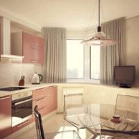 вариант яркого стиля кухни 10 кв.м. серии п 44 картинка