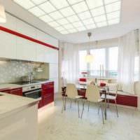 идея яркого дизайна кухни 12 кв.м картинка