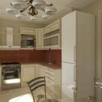 идея светлого стиля кухни 13 кв.м фото