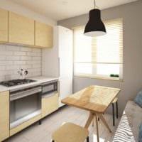 вариант яркого декора кухни 7 кв.м картинка