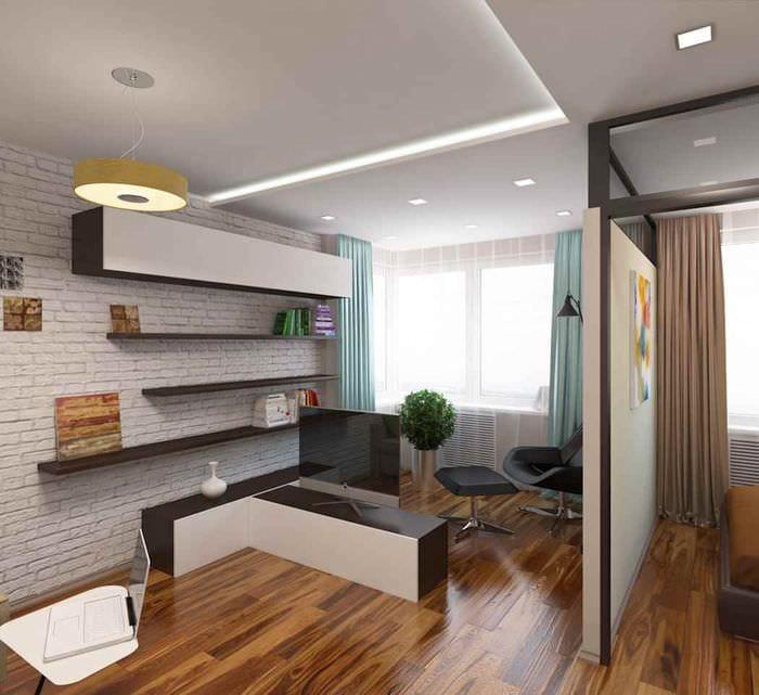пример яркого интерьера квартиры студии 26 квадратных метров