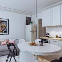 идея необычного дизайна студии 20 кв.м картинка