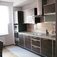 пример необычного стиля кухни 10 кв.м. серии п 44 картинка