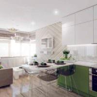 пример яркого интерьера кухни 10 кв.м. серии п 44 фото