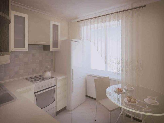 идея яркого стиля кухни 11 кв.м