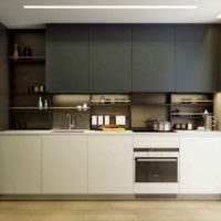 пример яркого декора кухни 13 кв.м фото