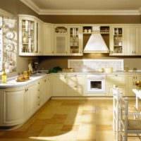 идея красивого декора кухни 13 кв.м фото