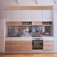 пример красивого интерьера кухни с газовой колонкой фото