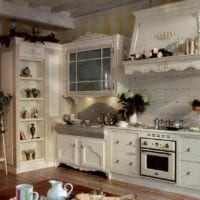 идея красивого интерьера кухни в деревенском стиле фото
