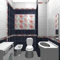 вариант яркого стиля укладки плитки в ванной комнате картинка
