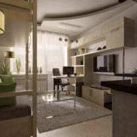 пример необычного дизайна гостиной 15 кв.м фото