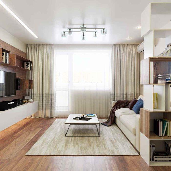пример красивого дизайна гостиной 15 кв.м
