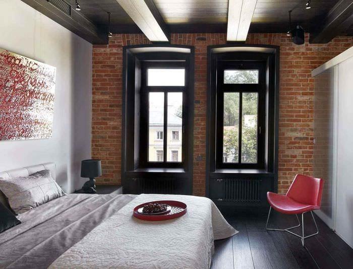 вариант яркого стиля комнаты 12 кв.м