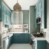 идея яркого дизайна кухни 7 кв.м картинка