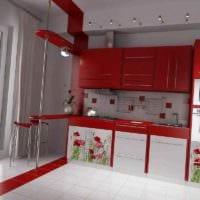вариант необычного стиля кухни с газовой колонкой картинка