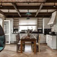 пример красивого стиля кухни в деревенском стиле картинка