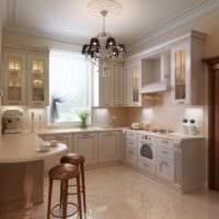 идея красивого стиля кухни в классическом стиле картинка