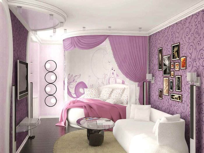 вариант яркого стиля детской комнаты для девочки