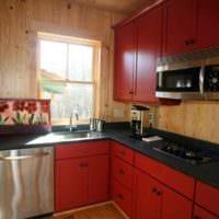 пример красивого декора кухни 10 кв.м. серии п 44 картинка