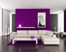 пример применения яркого сиреневого цвета в декоре фото