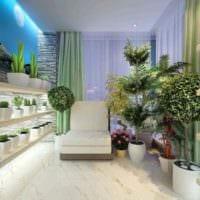 пример использования необычных идей оформления зимнего сада в доме фото