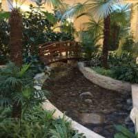 идея использования светлых идей оформления зимнего сада картинка