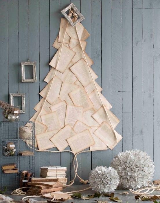 пример создания яркой елки из бумаги своими руками