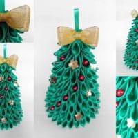 пример создания праздничной елки из бумаги самостоятельно фото