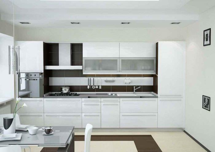 пример светлого стиля кухни 11 кв.м