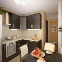 идея светлого интерьера кухни 13 кв.м картинка