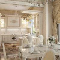вариант необычного стиля кухни в загородном доме фото