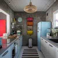 вариант красивого дизайна кухни 13 кв.м фото