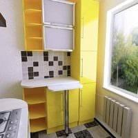 вариант красивого интерьера кухни с газовой колонкой картинка