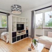 идея яркого интерьера гостиной спальни картинка