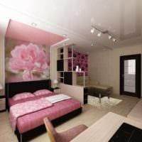 вариант светлого стиля гостиной спальни фото