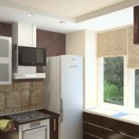 идея необычного дизайна кухни с газовой колонкой фото