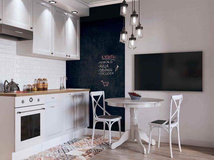 идея красивого стиля квартиры студии 26 квадратных метров