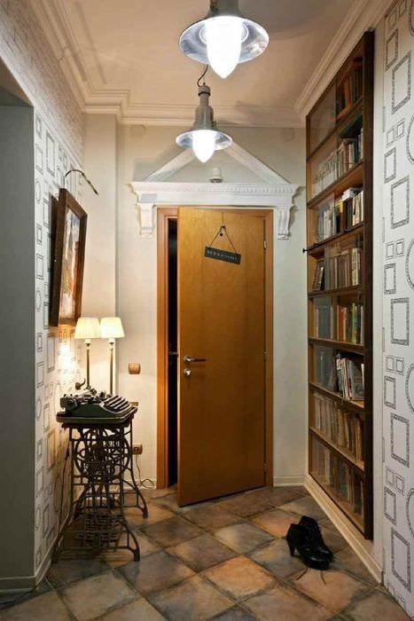 вариант красивого дизайна прихожей в частном доме