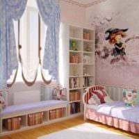 вариант светлого стиля детской комнаты для девочки картинка
