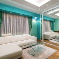 идея светлого стиля гостиной спальни фото