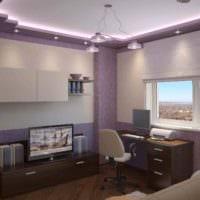 идея красивого дизайна комнаты 12 кв.м фото