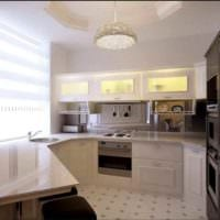 вариант светлого стиля кухни 12 кв.м картинка