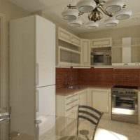 пример необычного декора кухни 7 кв.м картинка