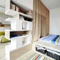 пример светлого стиля комнаты 12 кв.м картинка