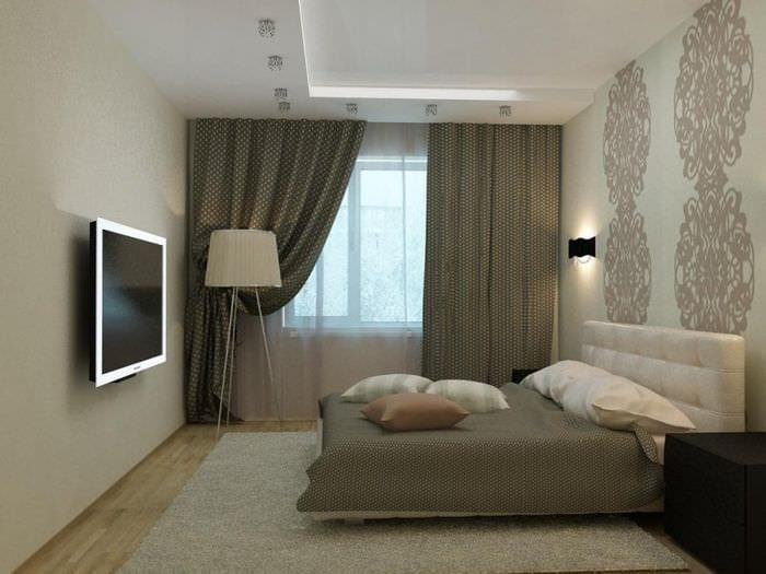 пример необычного декора комнаты 12 кв.м