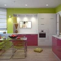 пример необычного декора кухни 13 кв.м картинка