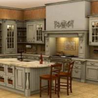 идея красивого декора кухни в классическом стиле фото